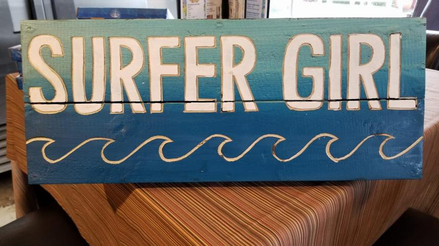 Sweet Surfer Sign